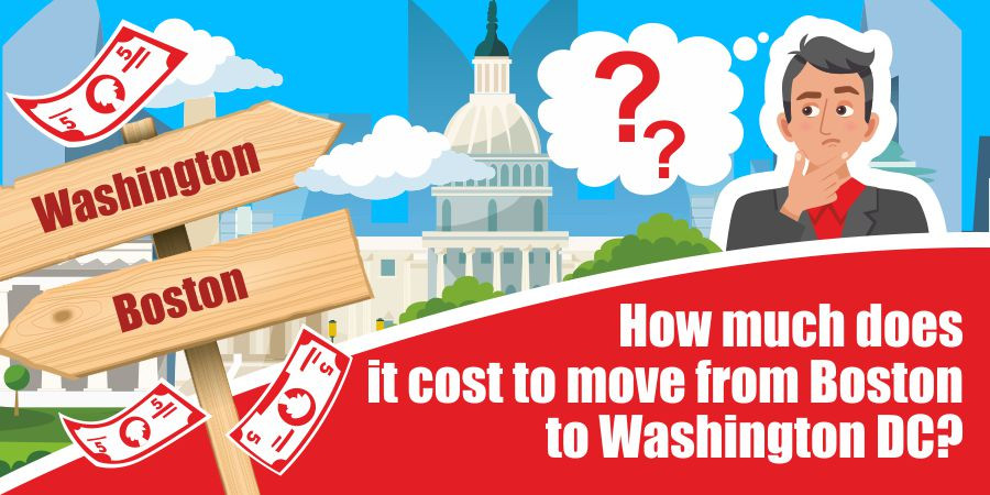 This is a graphic for moving from Boston to Washington D.C.