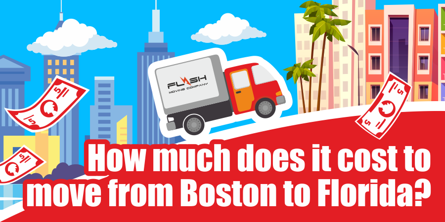 This is a graphic for cost of moving from Boston to Florida.