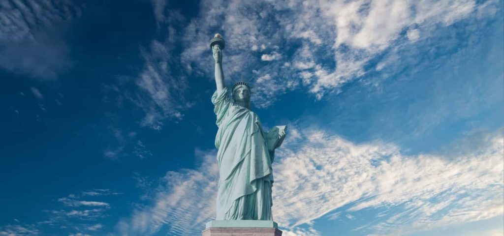 This is a photo of the Statue of Liberty in New York City where Flash Moving provides moving services.