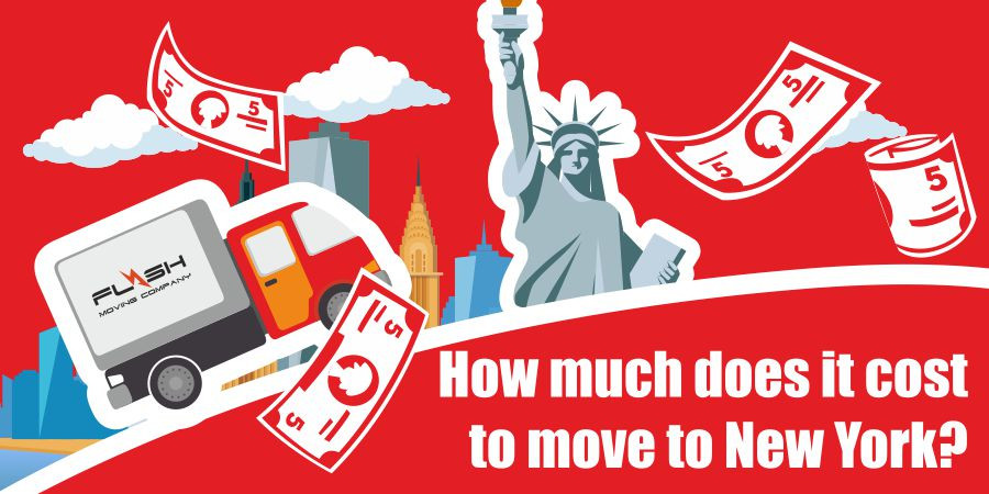 This is a graphic for moving to New York City.