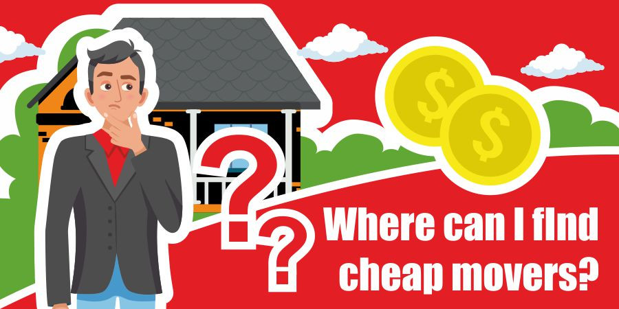 This is a graphic for finding cheap movers.