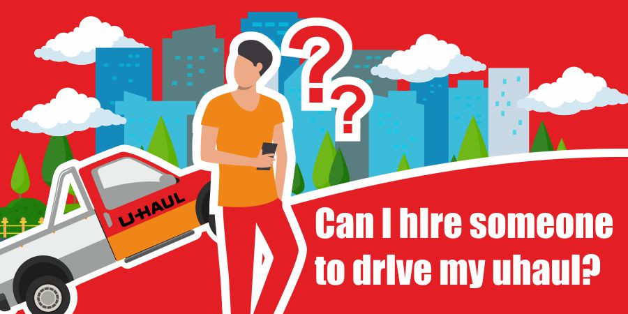 This is a graphic for hiring a moving team for a uhaul.