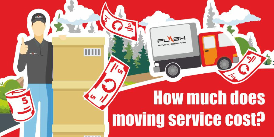 This is a graphic for moving service costs.