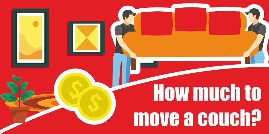 This is a graphic for couch moving cost.