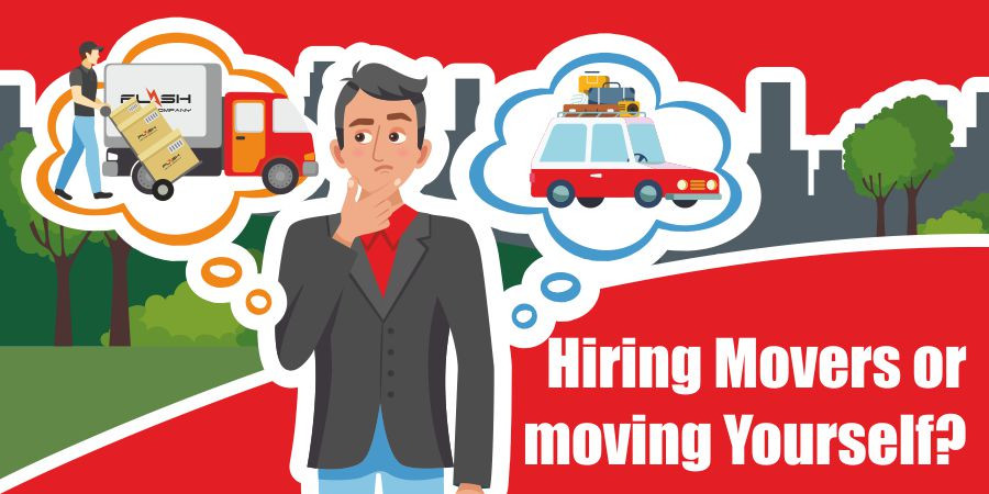 This graphic is for hiring professional movers or not.