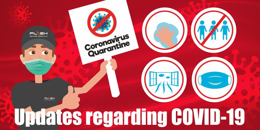This is a graphic for Covid-19 updates.