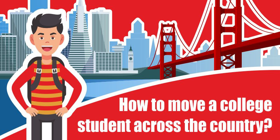 This is a graphic for college students moving across the country.