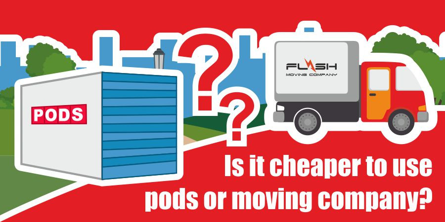 This is a graphic for choosing pods or a moving company.