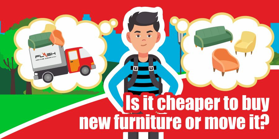 This is a graphic for moving furniture or buying new furniture.