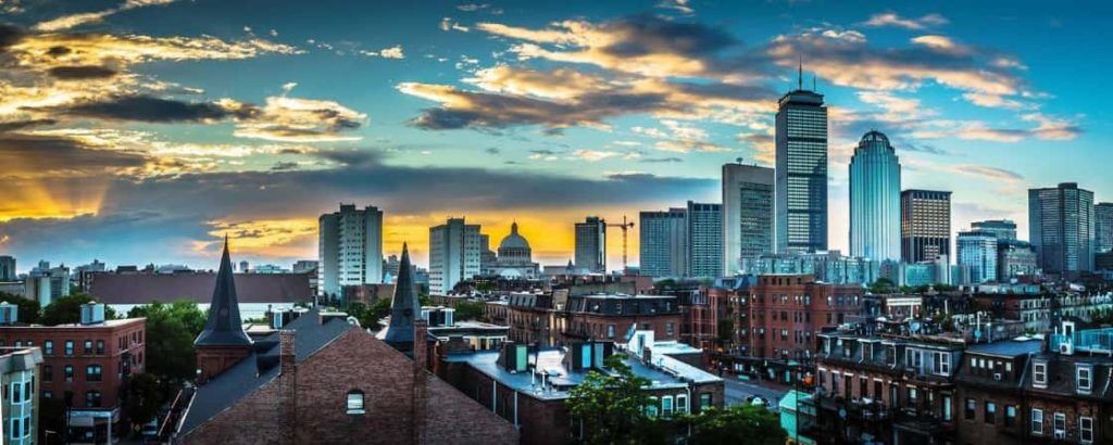This is a photo of downtown Boston where Flash Moving provides moving services.